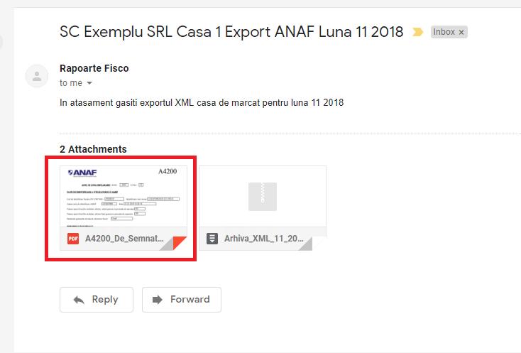 Mail direct cu declaratia A4200